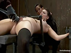Isis Love And Sienna And Alicia Stone - Device Bondage
