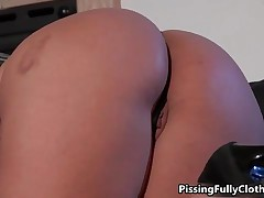 Brunette Chick Loves Licking A Blonde Lesbian Her Wet Pussy By PissingFullyClothed