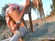 Petite 18 years old girl Loly on beach