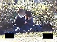 Japanese Babe Fingering Her Pussy Outdoor By His Boyfriend