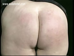 Naughy nun bends over and is spanked on her well formed ass by older priest