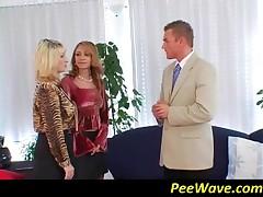 Precious Blonde Tramps Sharing A Big Dick