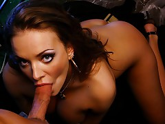 Super hot chick with huge tits gets her pussy fucked hard!