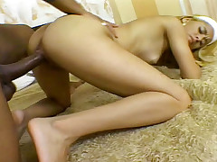 Sexy and horny nurse gets a big black cock up the ass !