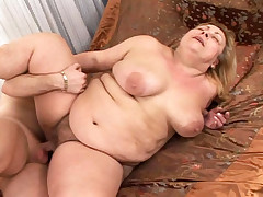 BBW mature takes a hard one in as many positions as possible