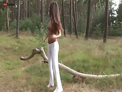 Eroberlin Anastasia Petrova russian outdoor nudist forest long hair beauty teen