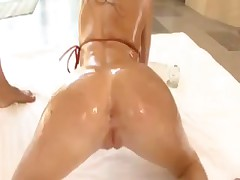 Rebeca all oiled up