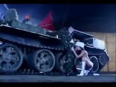 Janet Peron fucking on a tank