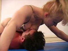Xana mixed wrestling domination