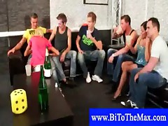 Bisexual hunk with teens and girls sucking