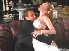 Pornovato.com - Hot redhead bride gets ass full