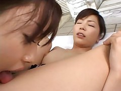 Lesbian Jap By The Pool