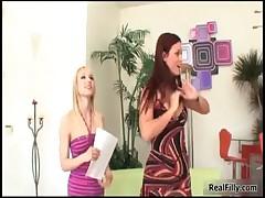 Ashley Jane and Karlie Montana kissing