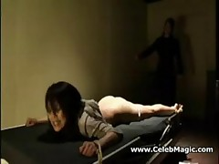 Asian girl spanking