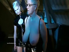Two Mistresses And Their Slavegirl in heavy femdom domination and humiliation