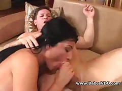 Threesome hardcore sex