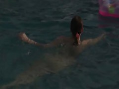 sexy teenager masturbation in the pool