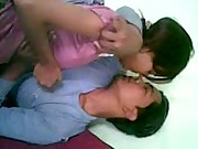 young indian college couple enjoying
