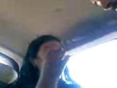 Old man doing Libyan teenager in car