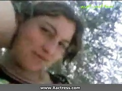 Arab girl blowing cock and fucked outdoor