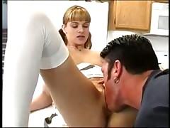 Teen sex in ass in kitchen