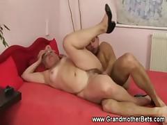 Hardcore hairy granny fucking