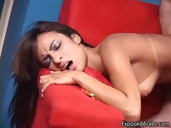Sexy Arab whore with nice tanlines gets