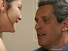old and young voyeur sex of teen babe Alicia Angel with older teacher in office