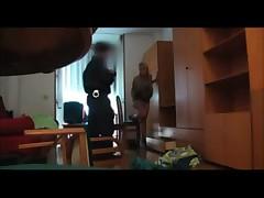 Spy kitty fucks young policeman
