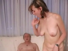 Teen slut fucks old man!