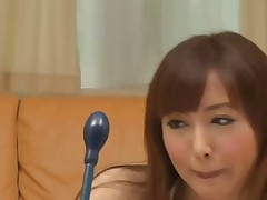 Hot japanese babe plays by airliner