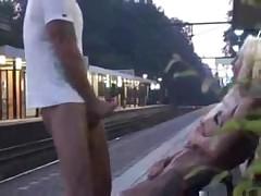 Public at Train Station