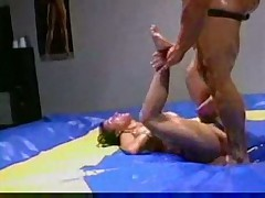 Milf oil wrestling
