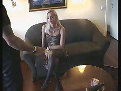 French blonde fuck by 2 guys