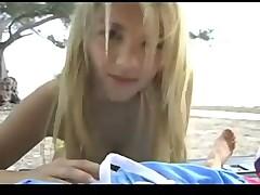 POV Handjob With A Blonde Bombshell In A Bikini