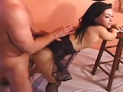 Hardcore with midget girl