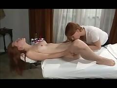 Teens in lesbian massage video