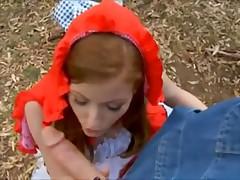 Little sex riding hood is a redhead