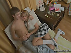 Schoolgirl loves to have sex