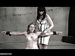 Wasteland Bondage Sex Movie - Sexy Dominatrix in White Latex...