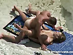 Spying my aunt with her toyboy on the beach