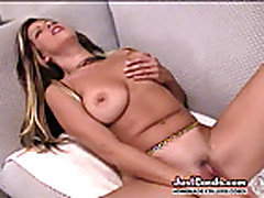 Petite milf uses huge toy in pussy then gets big cock sex de...
