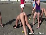 Wrestling naked college lesbians