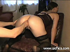 Teen whore fist fucked in her loose gaping pussy