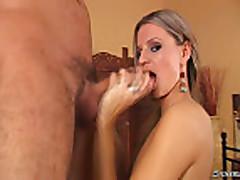 Petite tight bitch awesome blowjob
