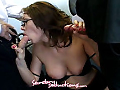 Samantha Sin with James Deen and Mr Pete