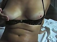 32 y Busty spanish milf Clara shows her orgasm