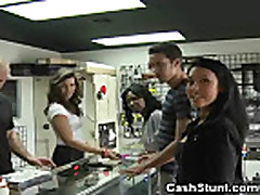 Amateur Girls Flash And Rub Tits In Gun Store Cash Stunt
