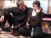 Drinking Sister with Hairy pussy Molested and forced taboo sex by Brother