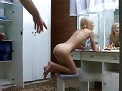 russian teen anal in front of mirror